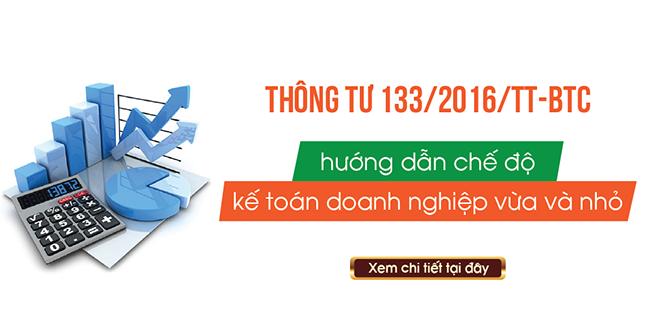 Thông tư số 133/2016/TT-BTC hướng dẫn Chế độ kế toán doanh nghiệp Nhỏ và vừa